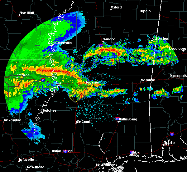 Radar Image for Severe Thunderstorms near Crystal Springs, MS at 4/19/2020 1:15 PM CDT