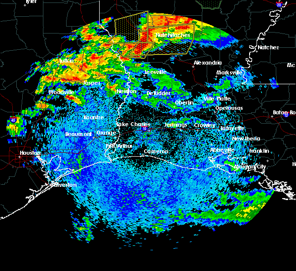 Radar Image for Severe Thunderstorms near Woodville, TX at 4/19/2020 1:16 PM CDT