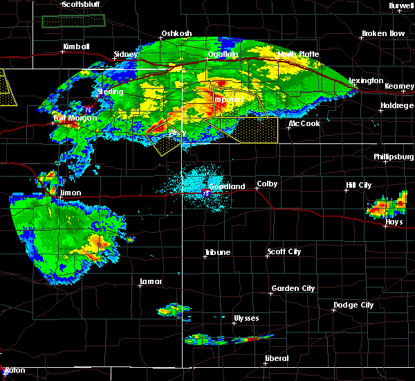 Radar Image for Severe Thunderstorms near Hayes Center, NE at 6/25/2015 10:01 PM CDT