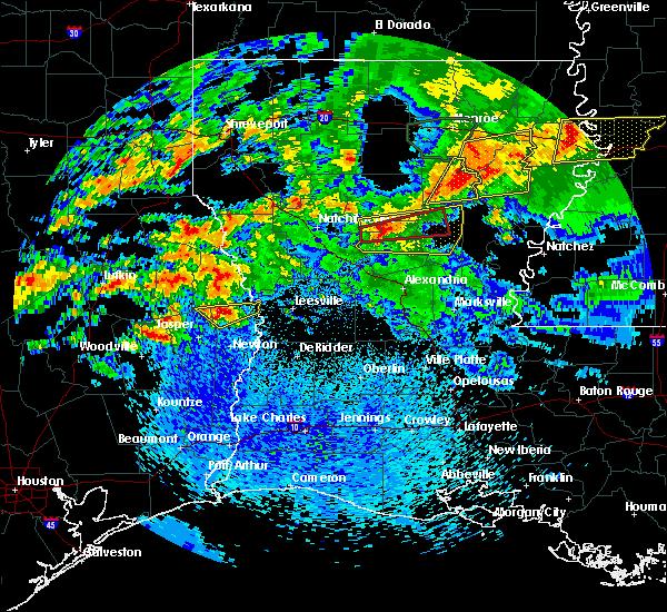 Radar Image for Severe Thunderstorms near Clarks, LA at 4/19/2020 2:13 PM CDT