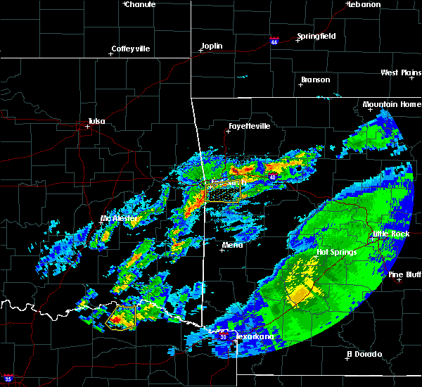 Radar Image for Severe Thunderstorms near Powderly, TX at 4/19/2020 2:36 PM CDT