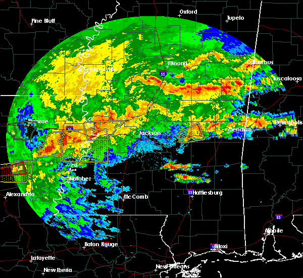 Radar Image for Severe Thunderstorms near Bay Springs, MS at 4/19/2020 2:44 PM CDT