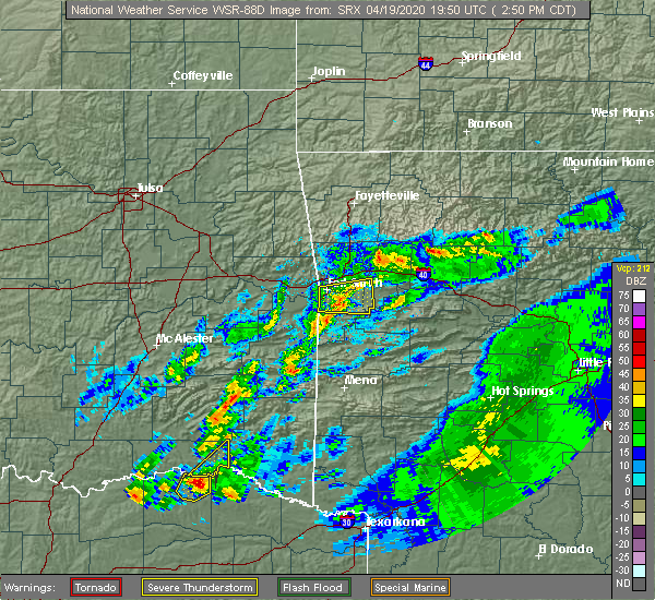 Radar Image for Severe Thunderstorms near Sawyer, OK at 4/19/2020 2:53 PM CDT