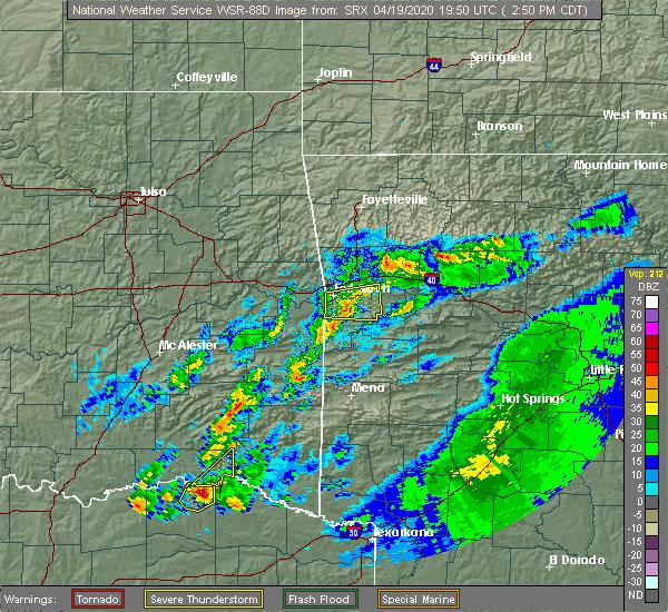 Radar Image for Severe Thunderstorms near Swink, OK at 4/19/2020 2:53 PM CDT