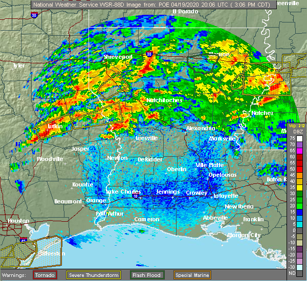 Radar Image for Severe Thunderstorms near Belmont, LA at 4/19/2020 3:09 PM CDT