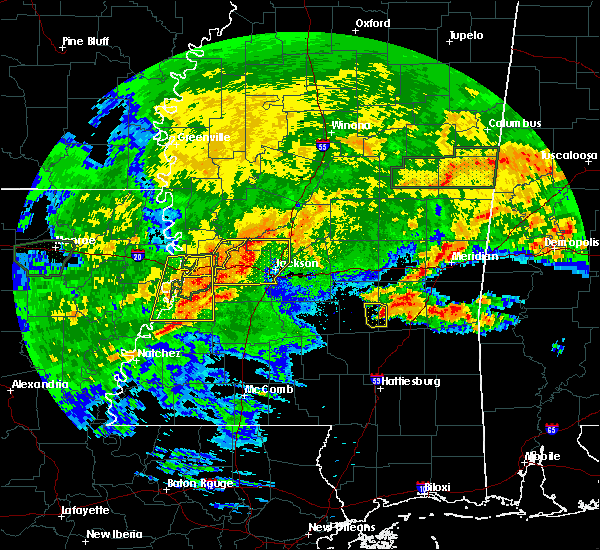 Radar Image for Severe Thunderstorms near Crystal Springs, MS at 4/19/2020 3:15 PM CDT