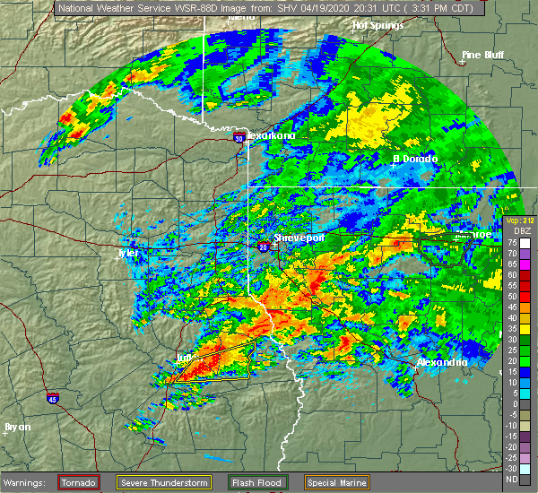 Radar Image for Severe Thunderstorms near Paris, TX at 4/19/2020 3:45 PM CDT