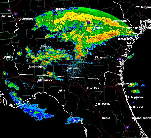 Radar Image for Severe Thunderstorms near Alma, GA at 4/19/2020 4:47 PM EDT