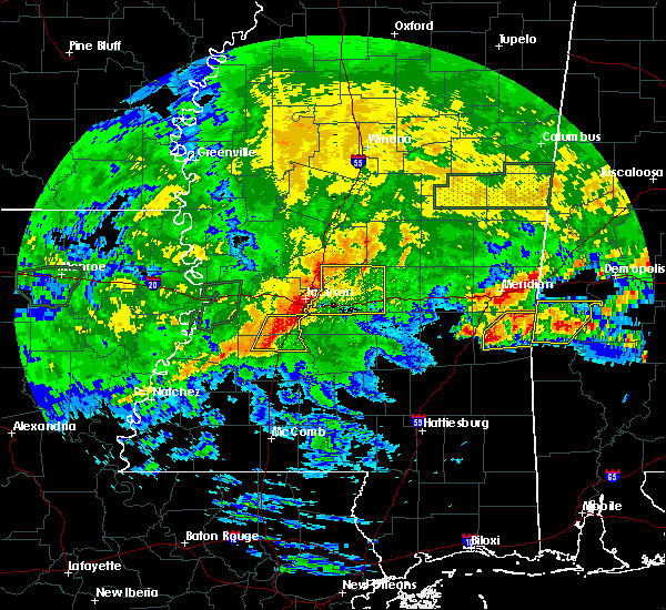 Radar Image for Severe Thunderstorms near Crystal Springs, MS at 4/19/2020 3:48 PM CDT