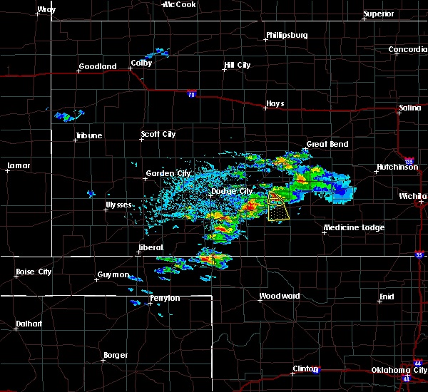 Radar Image for Severe Thunderstorms near Haviland, KS at 4/19/2020 4:29 PM CDT