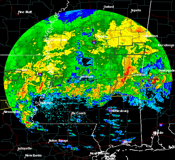 Radar Image for Severe Thunderstorms near Bay Springs, MS at 4/19/2020 4:59 PM CDT