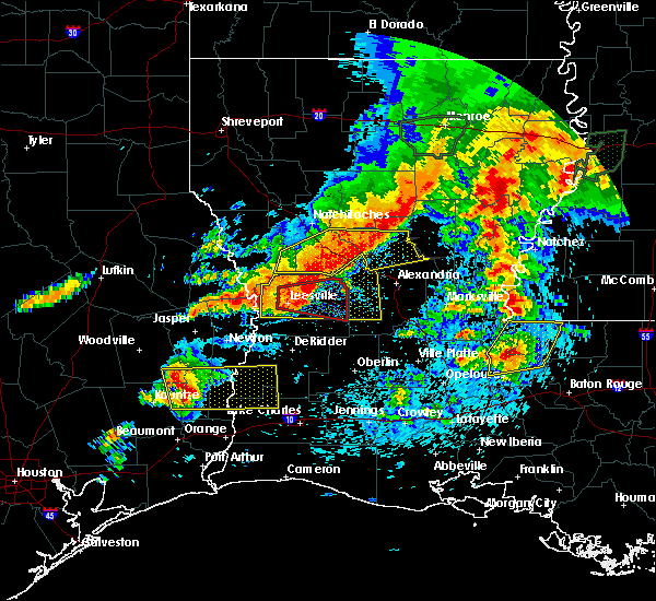 Radar Image for Severe Thunderstorms near Urania, LA at 4/19/2020 5:11 PM CDT