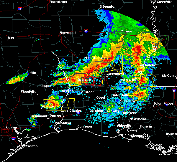 Radar Image for Severe Thunderstorms near Prospect, LA at 4/19/2020 5:13 PM CDT