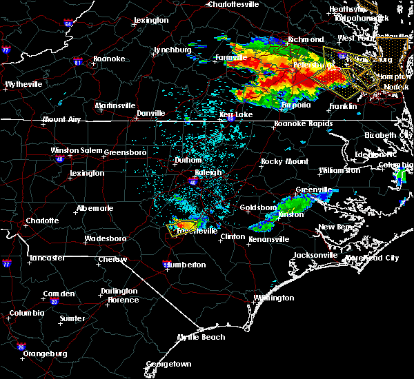 Radar Image for Severe Thunderstorms near Godwin, NC at 6/25/2015 11:28 PM EDT