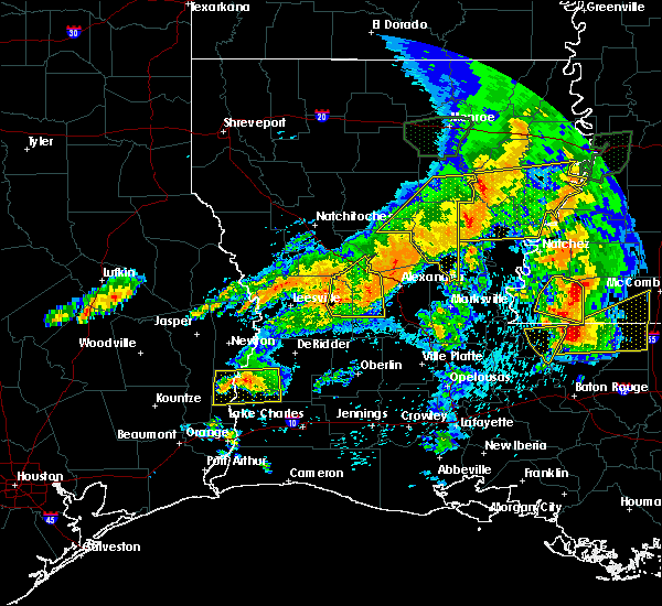 Radar Image for Severe Thunderstorms near Midway, LA at 4/19/2020 5:47 PM CDT