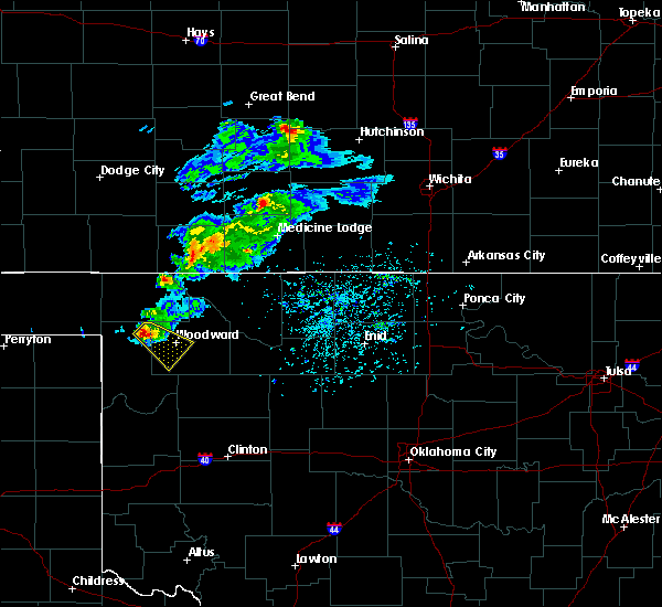 Radar Image for Severe Thunderstorms near Fort Supply, OK at 4/19/2020 5:56 PM CDT