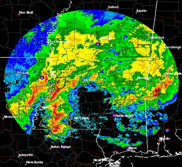 Radar Image for Severe Thunderstorms near Wisner, LA at 4/19/2020 5:58 PM CDT
