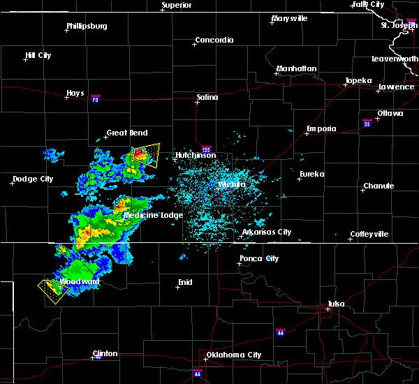 Radar Image for Severe Thunderstorms near Alden, KS at 4/19/2020 6:19 PM CDT