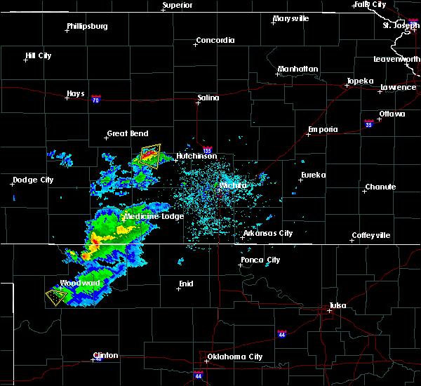 Radar Image for Severe Thunderstorms near Alden, KS at 4/19/2020 6:34 PM CDT