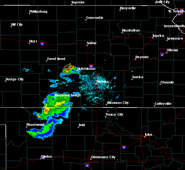 Radar Image for Severe Thunderstorms near Nickerson, KS at 4/19/2020 6:56 PM CDT
