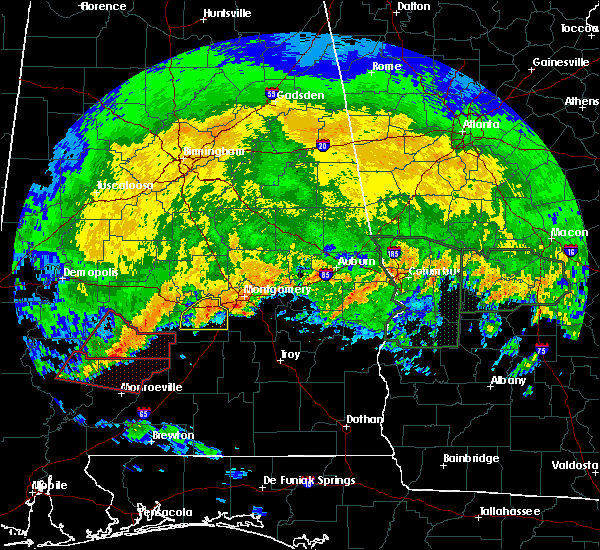 Radar Image for Severe Thunderstorms near Vredenburgh, AL at 4/19/2020 7:06 PM CDT