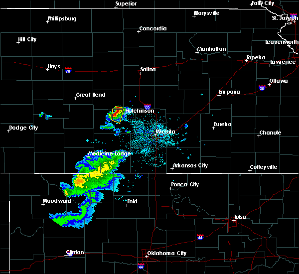 Radar Image for Severe Thunderstorms near Nickerson, KS at 4/19/2020 7:10 PM CDT