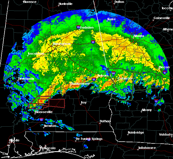 Radar Image for Severe Thunderstorms near Pine Apple, AL at 4/19/2020 7:13 PM CDT