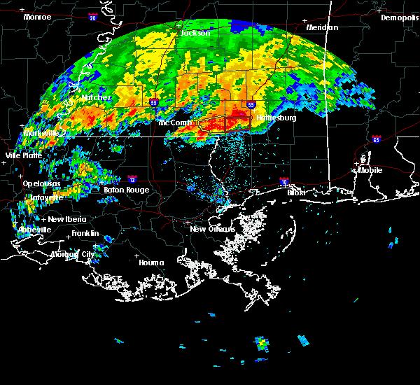 Radar Image for Severe Thunderstorms near Glendale, MS at 4/19/2020 7:48 PM CDT