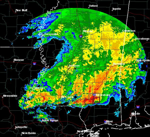 Radar Image for Severe Thunderstorms near Glendale, MS at 4/19/2020 8:01 PM CDT