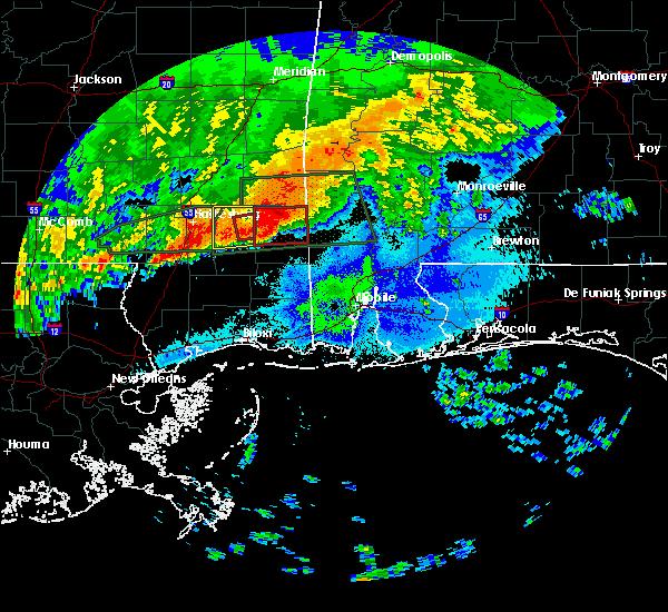 Radar Image for Severe Thunderstorms near Fruitdale, AL at 4/19/2020 8:53 PM CDT