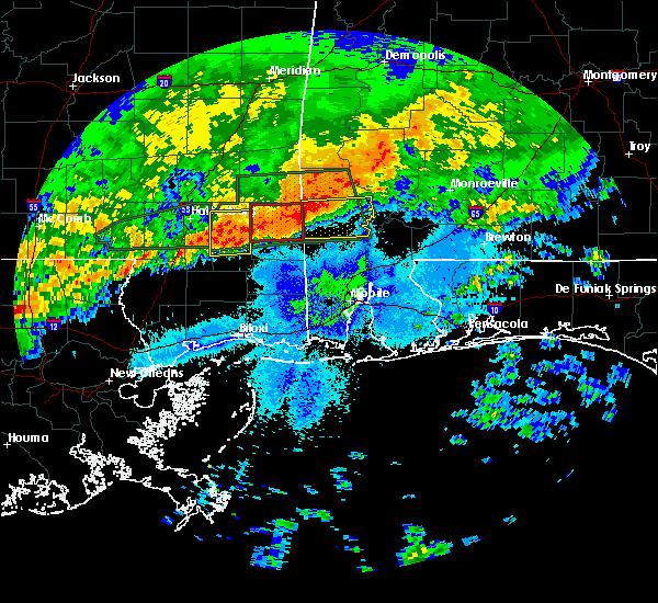 Radar Image for Severe Thunderstorms near Fruitdale, AL at 4/19/2020 9:10 PM CDT