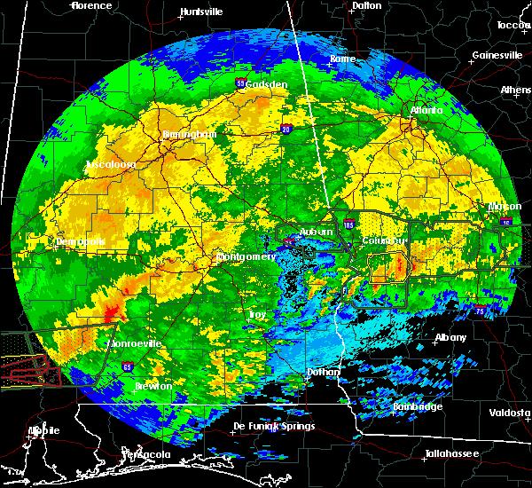 Radar Image for Severe Thunderstorms near Columbus, GA at 4/19/2020 10:41 PM EDT