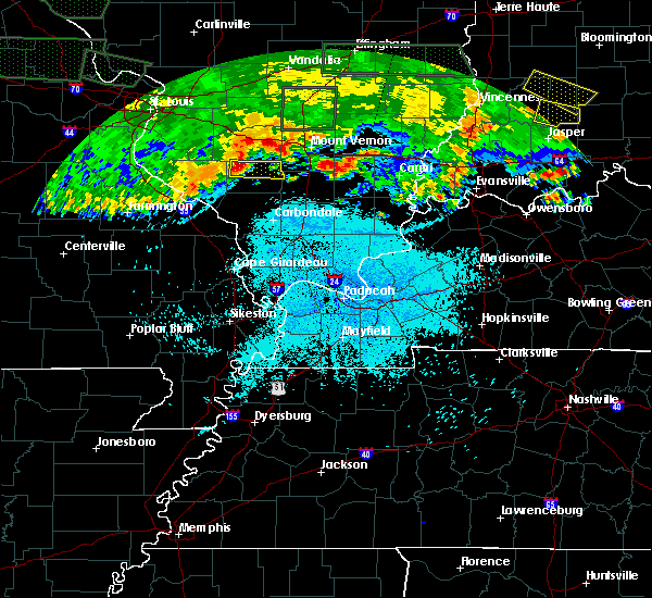 Radar Image for Severe Thunderstorms near Pinckneyville, IL at 6/25/2015 10:54 PM CDT
