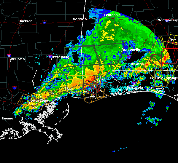 Radar Image for Severe Thunderstorms near Spanish Fort, AL at 4/19/2020 11:18 PM CDT