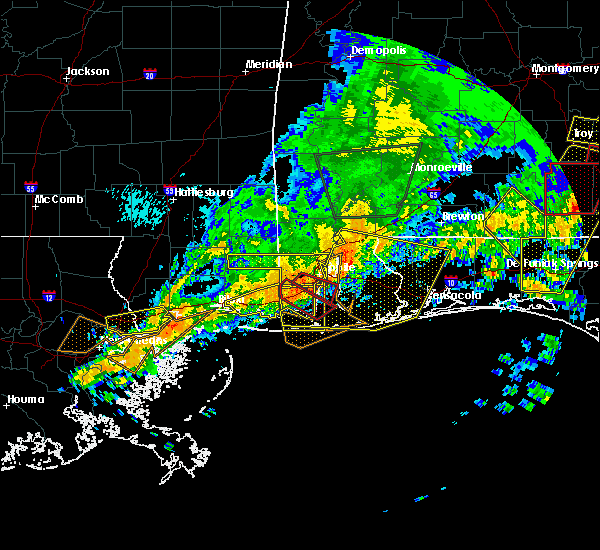 Radar Image for Severe Thunderstorms near Loxley, AL at 4/19/2020 11:32 PM CDT