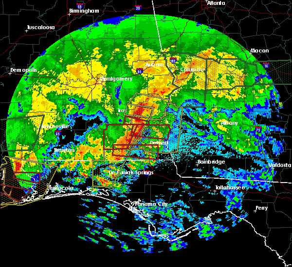 Radar Image for Severe Thunderstorms near Eufaula, AL at 4/19/2020 11:40 PM CDT