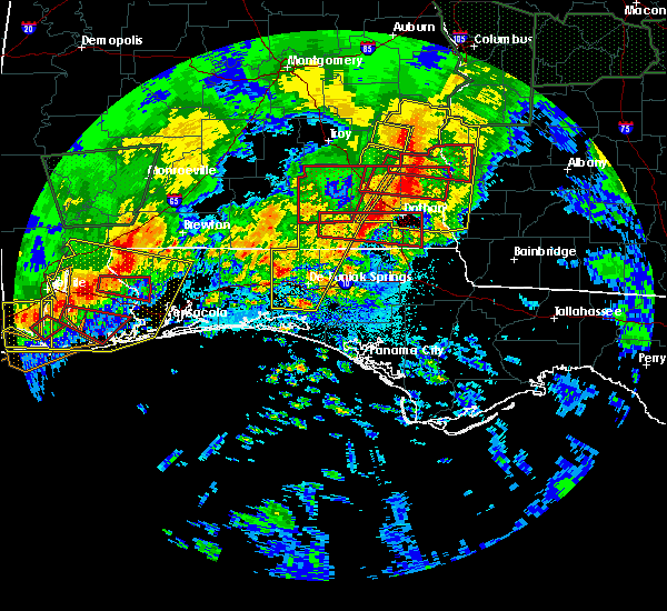 Radar Image for Severe Thunderstorms near Jacob City, FL at 4/19/2020 11:52 PM CDT