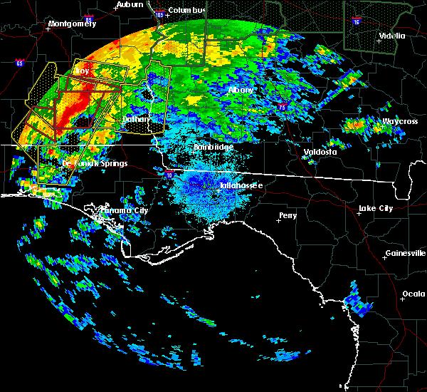 Radar Image for Severe Thunderstorms near Pelham, GA at 4/20/2020 1:29 AM EDT