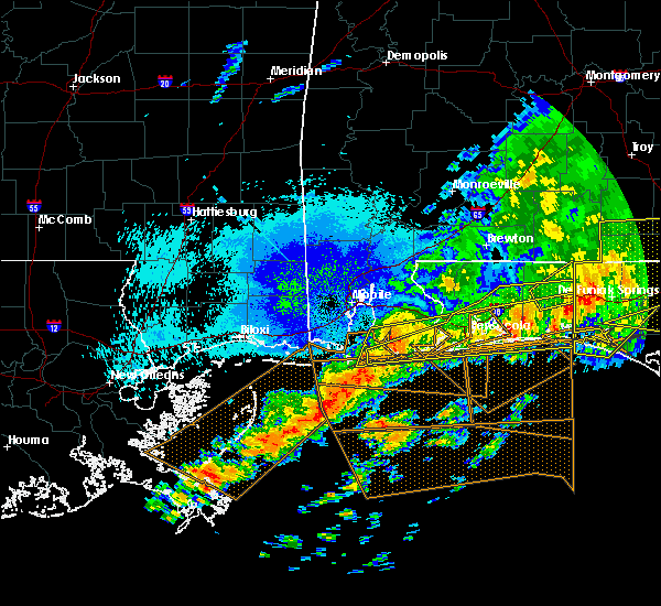 Radar Image for Severe Thunderstorms near Midway, FL at 4/20/2020 12:57 AM CDT