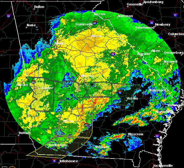 Radar Image for Severe Thunderstorms near Pitts, GA at 4/20/2020 2:39 AM EDT