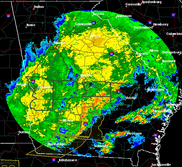 Radar Image for Severe Thunderstorms near Pitts, GA at 4/20/2020 2:44 AM EDT