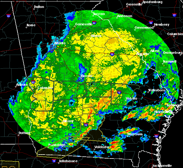 Radar Image for Severe Thunderstorms near Pitts, GA at 4/20/2020 2:58 AM EDT
