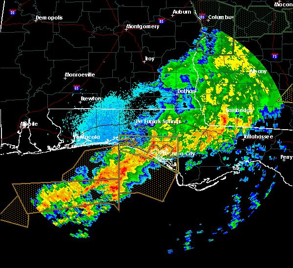 Radar Image for Severe Thunderstorms near Lynn Haven, FL at 4/20/2020 2:29 AM CDT