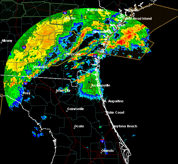 Radar Image for Severe Thunderstorms near Yulee, FL at 4/20/2020 4:41 AM EDT
