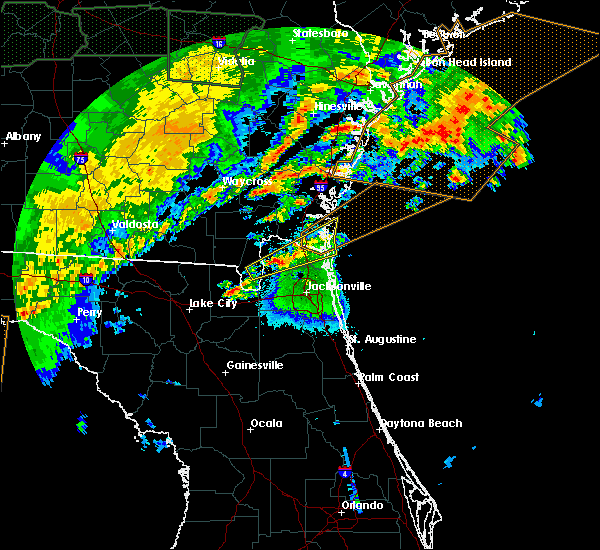 Radar Image for Severe Thunderstorms near Yulee, FL at 4/20/2020 4:50 AM EDT