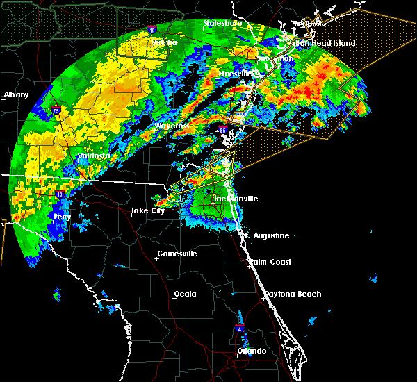 Radar Image for Severe Thunderstorms near Jacksonville, FL at 4/20/2020 4:50 AM EDT