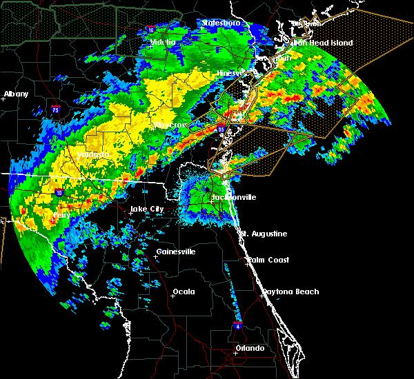 Radar Image for Severe Thunderstorms near St. Simons, GA at 4/20/2020 5:37 AM EDT