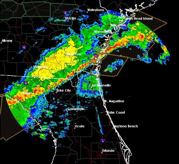 Radar Image for Severe Thunderstorms near St. Simons, GA at 4/20/2020 5:58 AM EDT