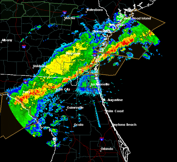 Radar Image for Severe Thunderstorms near Woodbine, GA at 4/20/2020 6:12 AM EDT