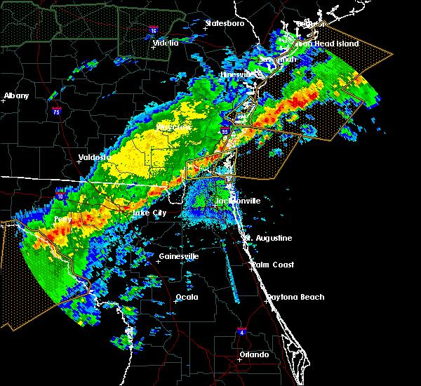 Radar Image for Severe Thunderstorms near Woodbine, GA at 4/20/2020 6:16 AM EDT